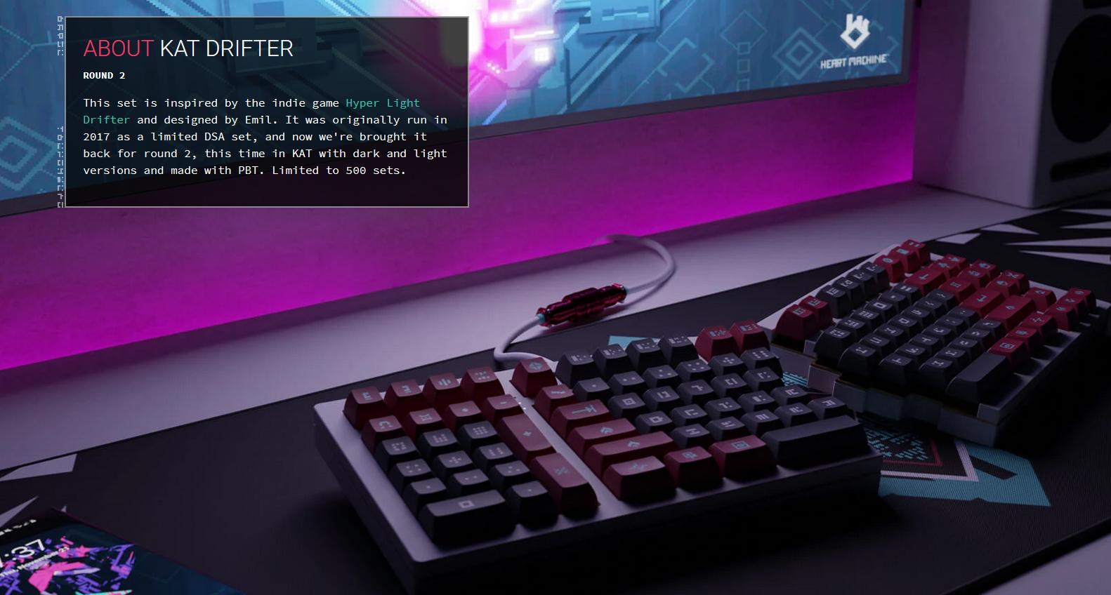 Screenshot of Drifter page.