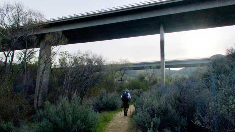 Crossing under Interstate 8