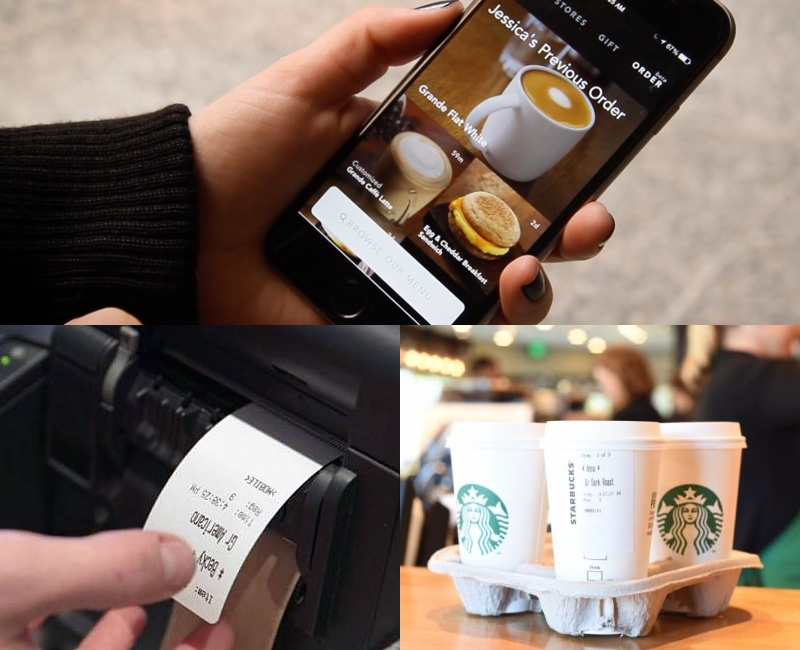 Starbucks order labels