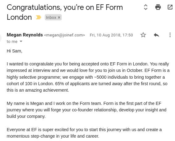 entrepreneur first email