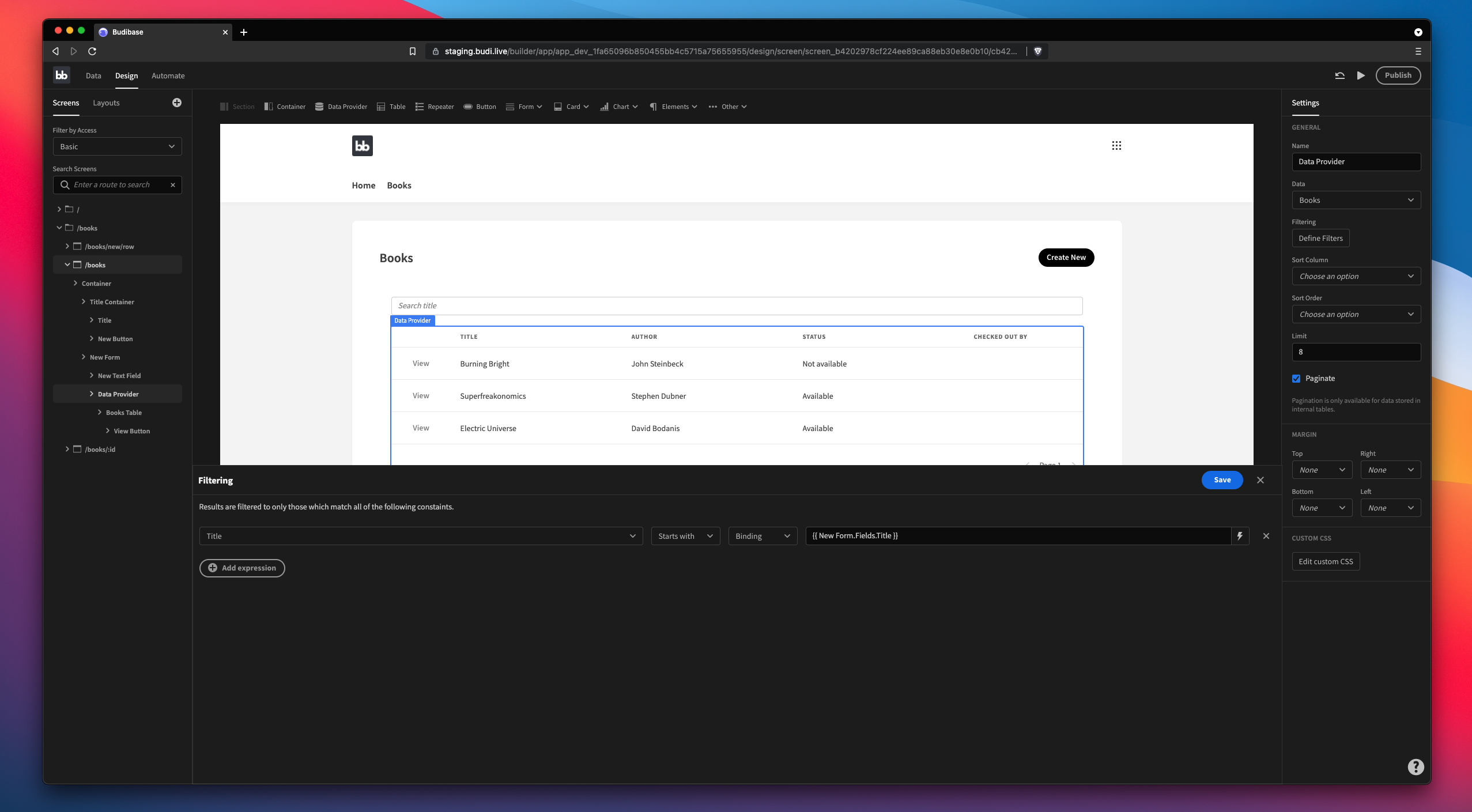 Create search within your CRUD app
