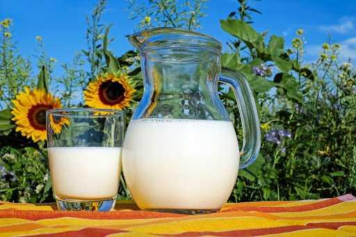 Melk in een kan