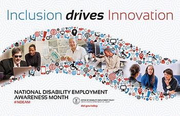 National Disability Employment Awareness Month logo