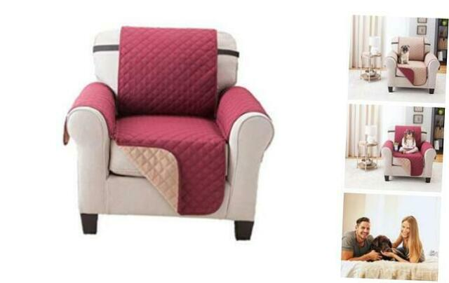 Deluxe Reversible Chair Slipcover Recliner Furniture Protector