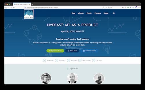 """April 28, 2021 Nordic APIs LiveCast event"""