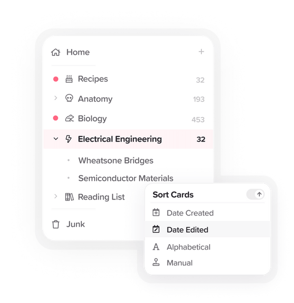 Create a network of notes