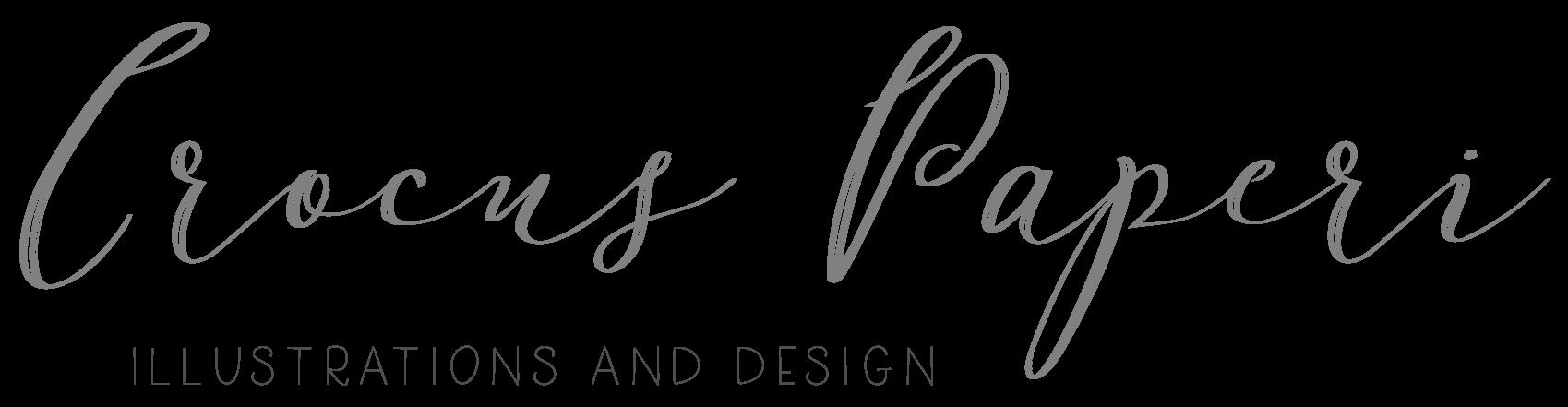 Crocus Paperi | Hääkutsut/graafinen suunnittelu/juhlasuunnittelu/piirtaminen logo