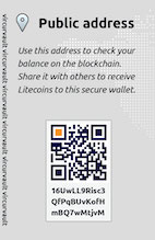Click to zoom in on the Silver Litecoin Original Vircurvault back design