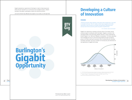 Burlington's Gigabit Opportunity report cover