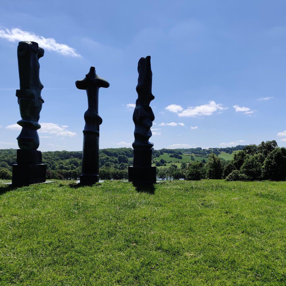 Brass moulding at Yorkshire Sculpture Park