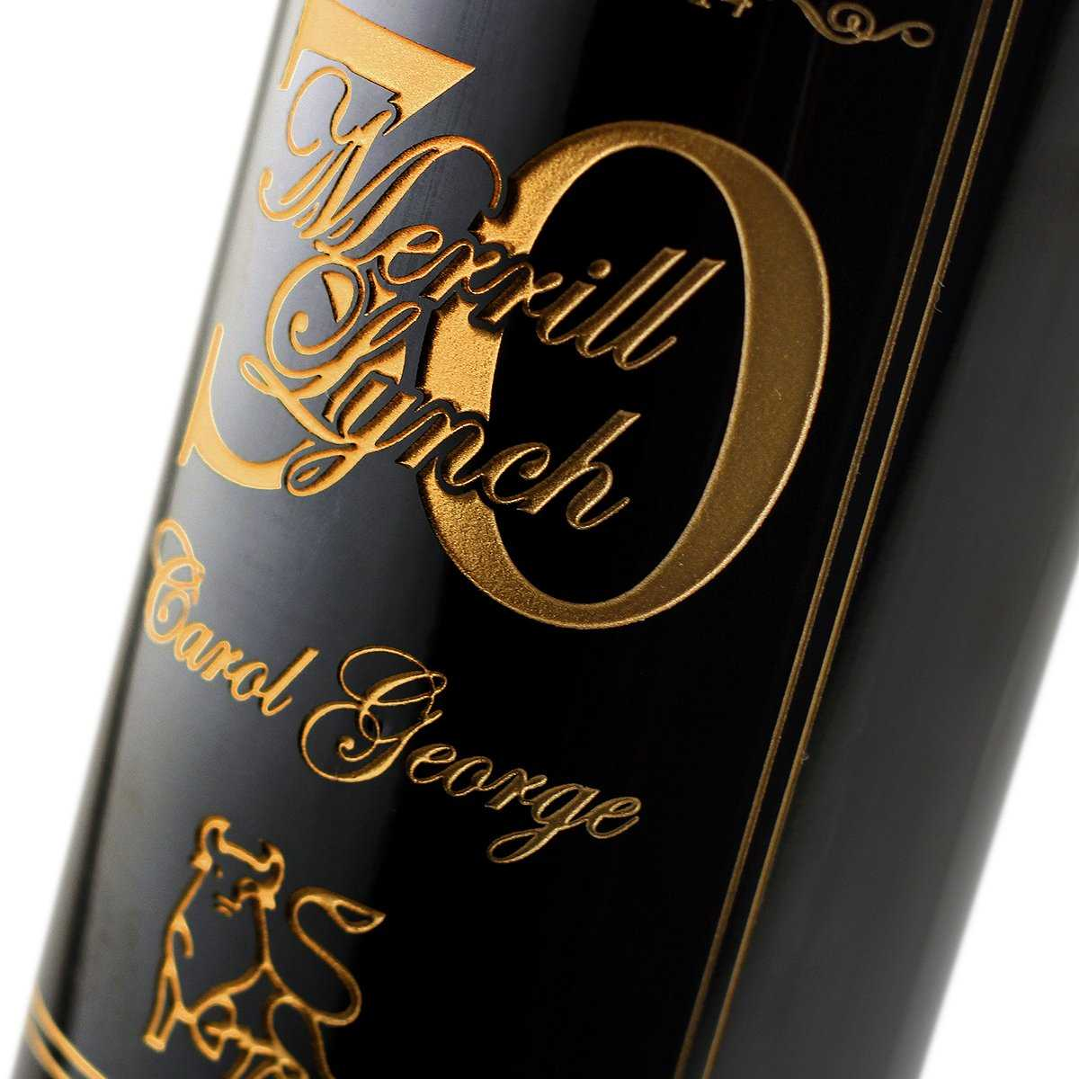 etched bottle for employee gift ideas corporate engraved red wine