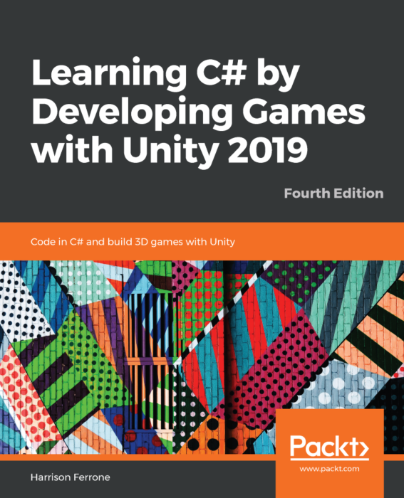 Learning C# by Developing Games with Unity Book Cover