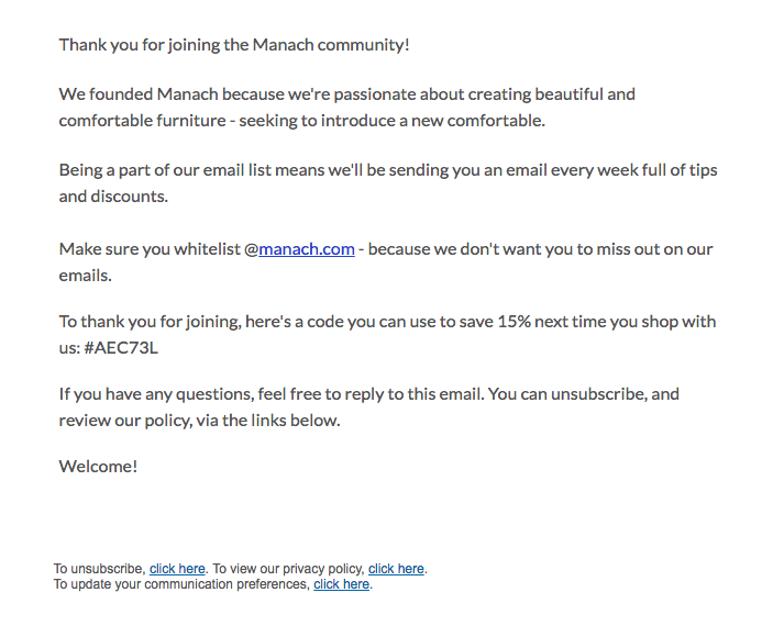 Monotonous email