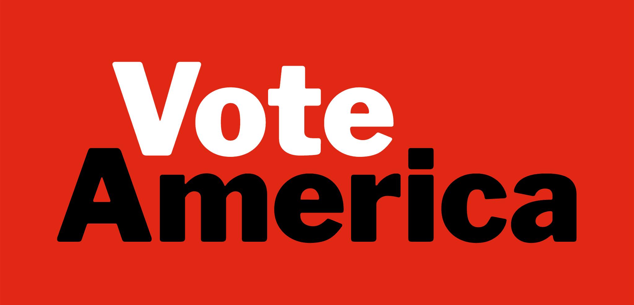 VoteAmerica logo, rectangle