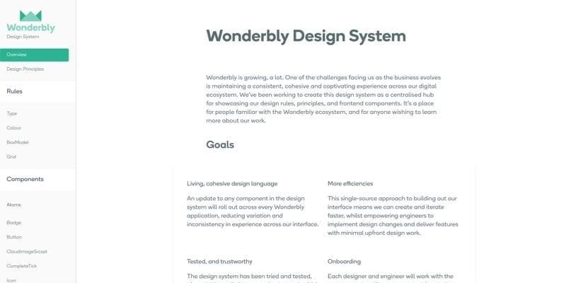 Wonderbly Design System