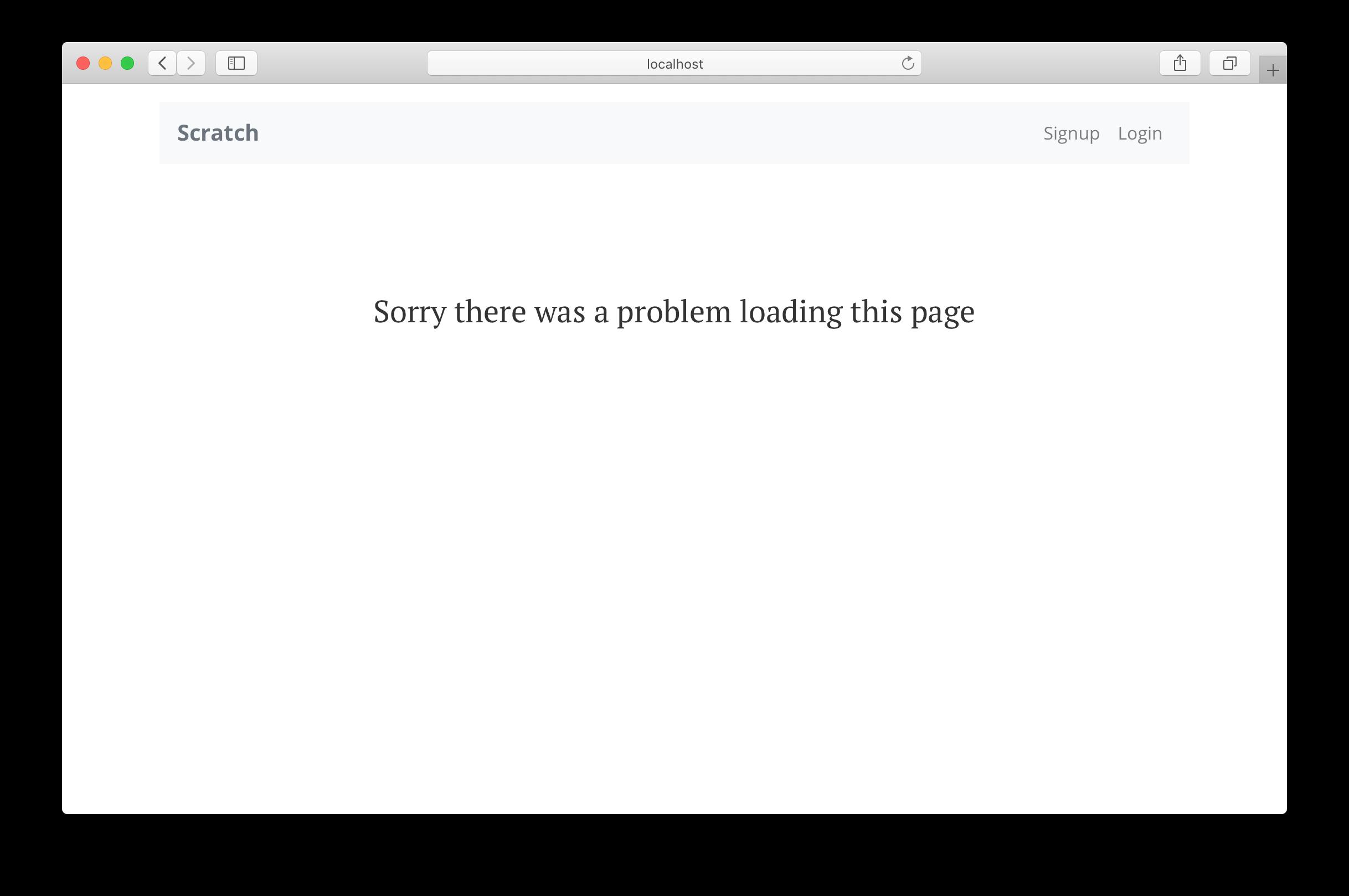 React Error Boundary fallback UI