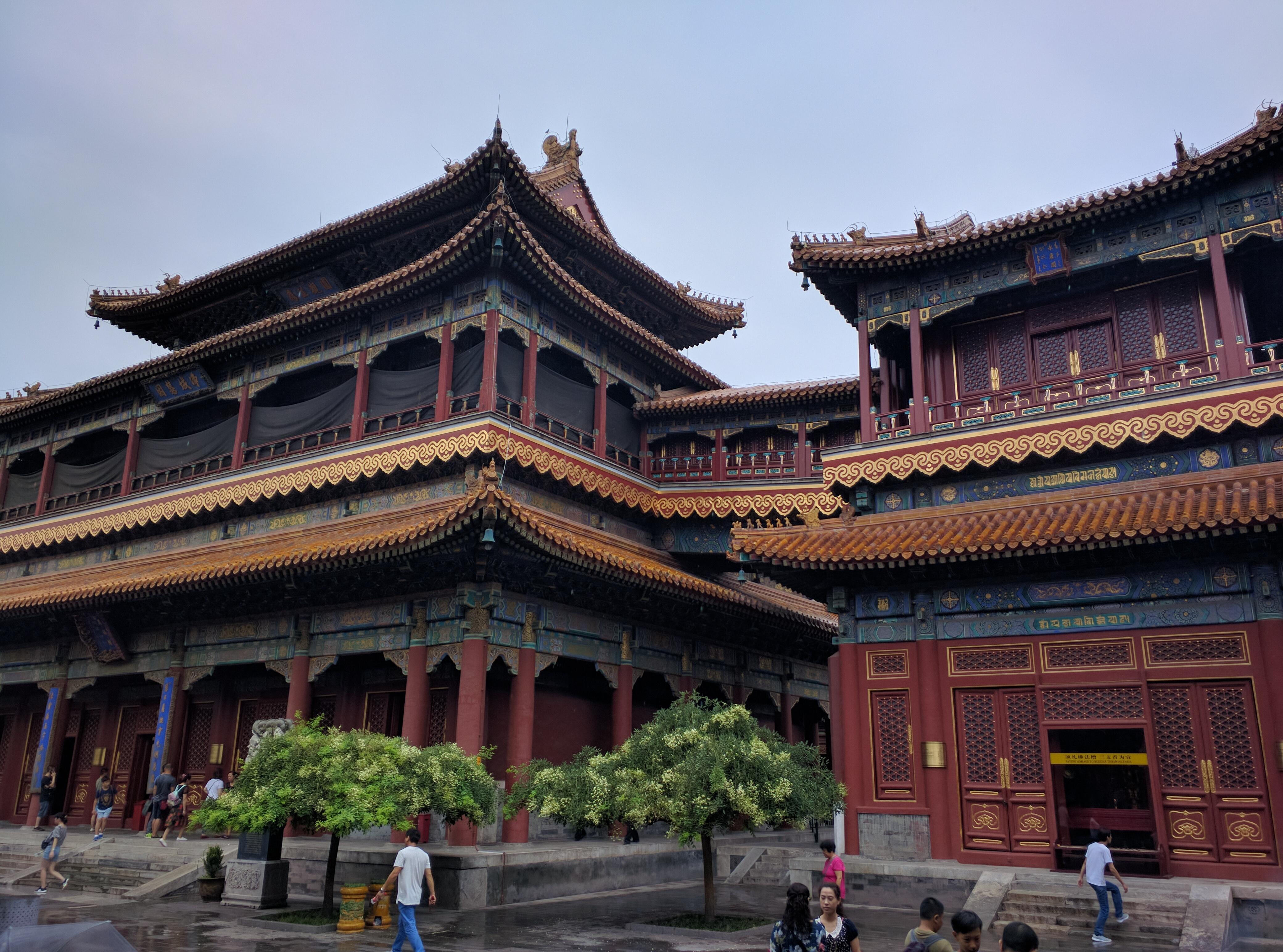 Der Lama Tempel beeindruckt dann doch.