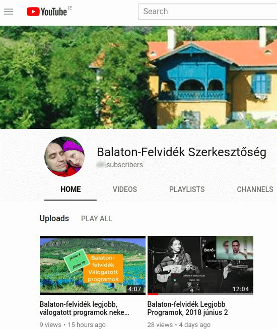 részlet a Balaton-felvidék Szerkesztőség youtube csatornájáról