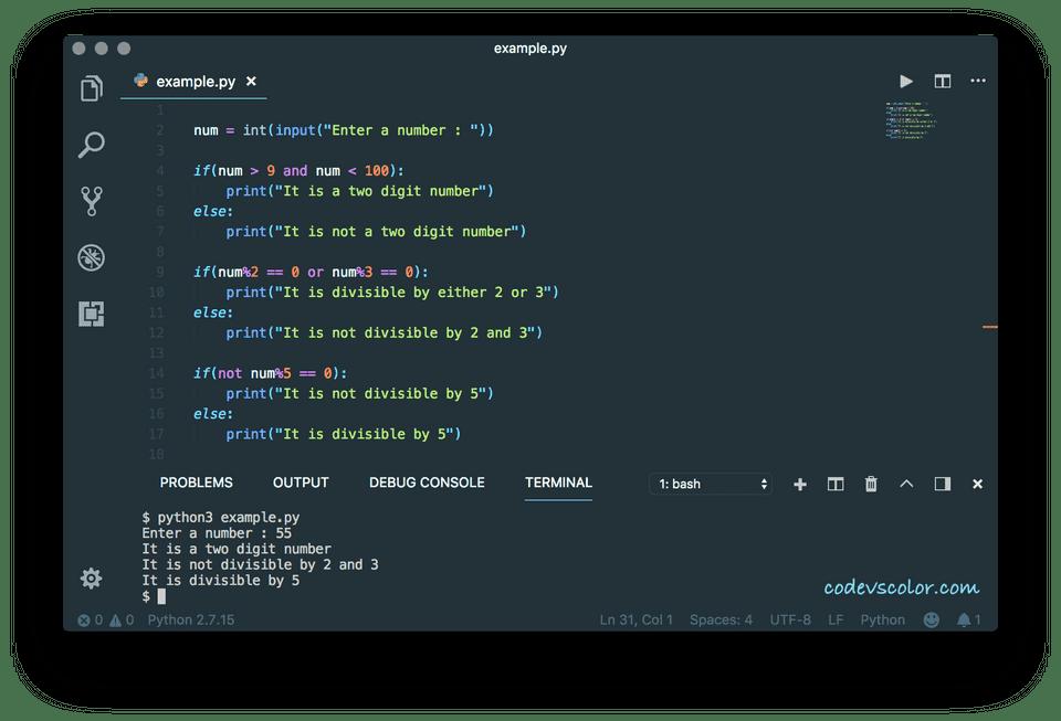 python logical operator