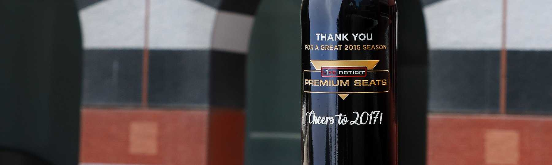 etched red wine bottle engraved corporate gift bottle