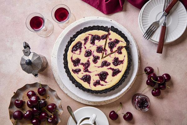 Cherry Cheesecake Tart