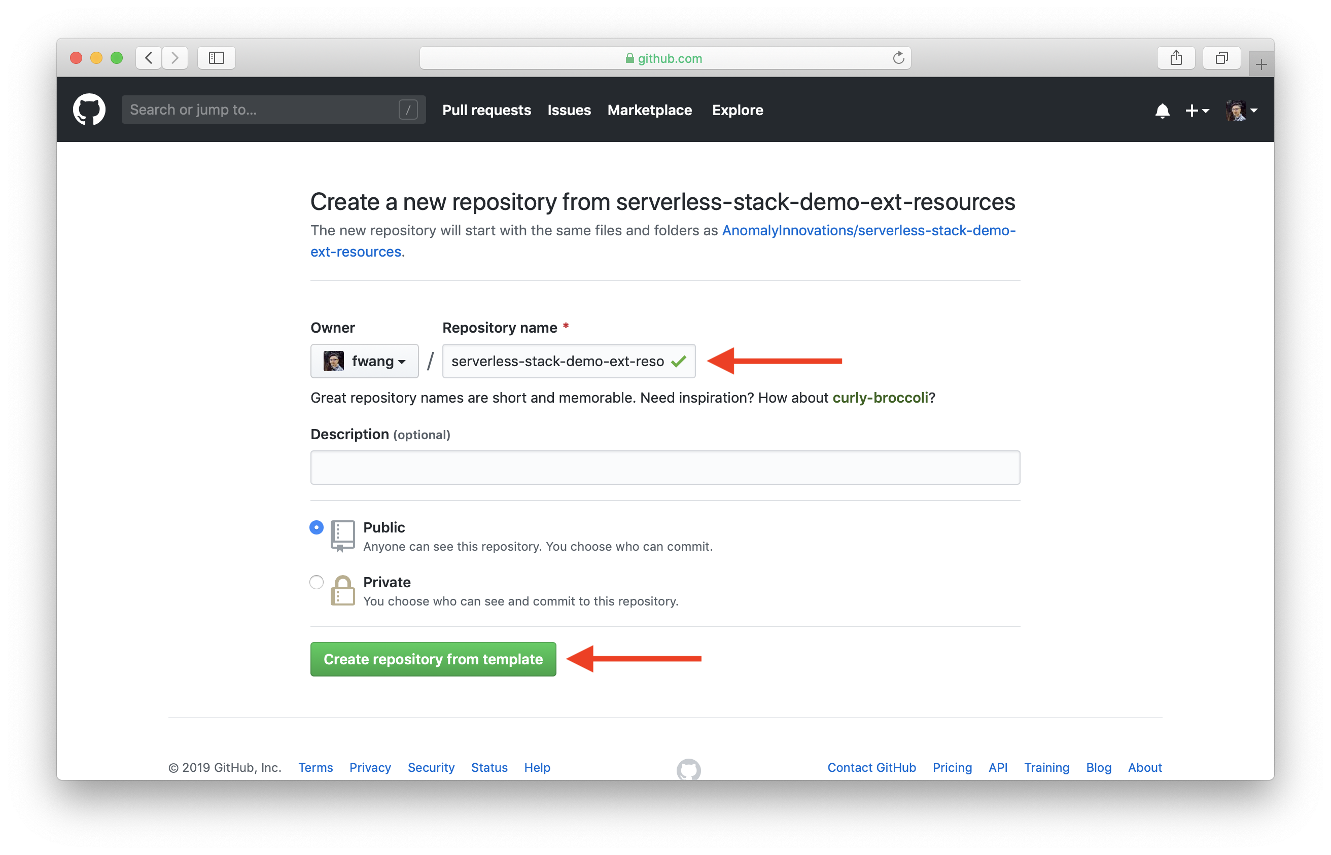 Create demo resources repo on GitHub