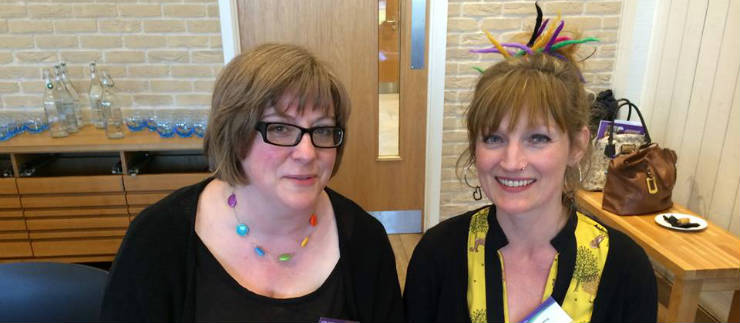 Library managers Liz Gleave and Gayla Rowling