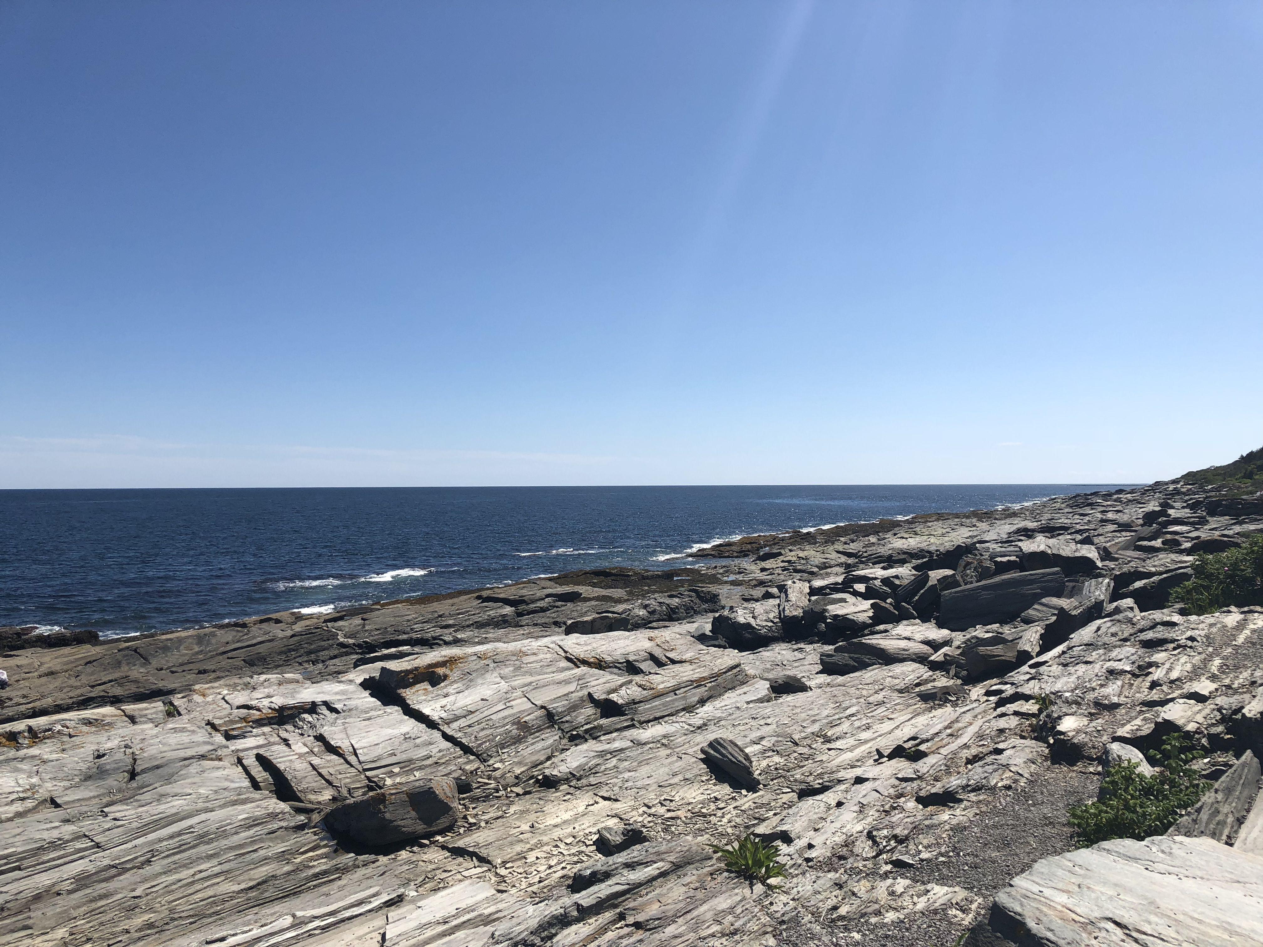 Maine coastline. Rocks at Two Lights State Park