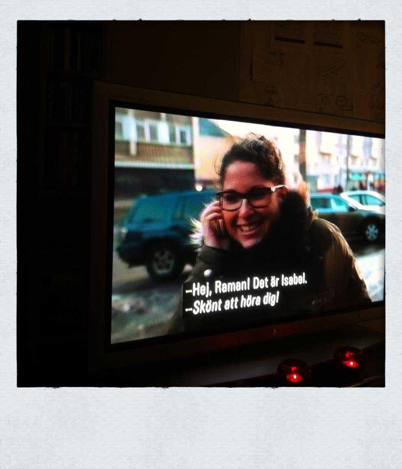 TV med programmet De svarta lådorna