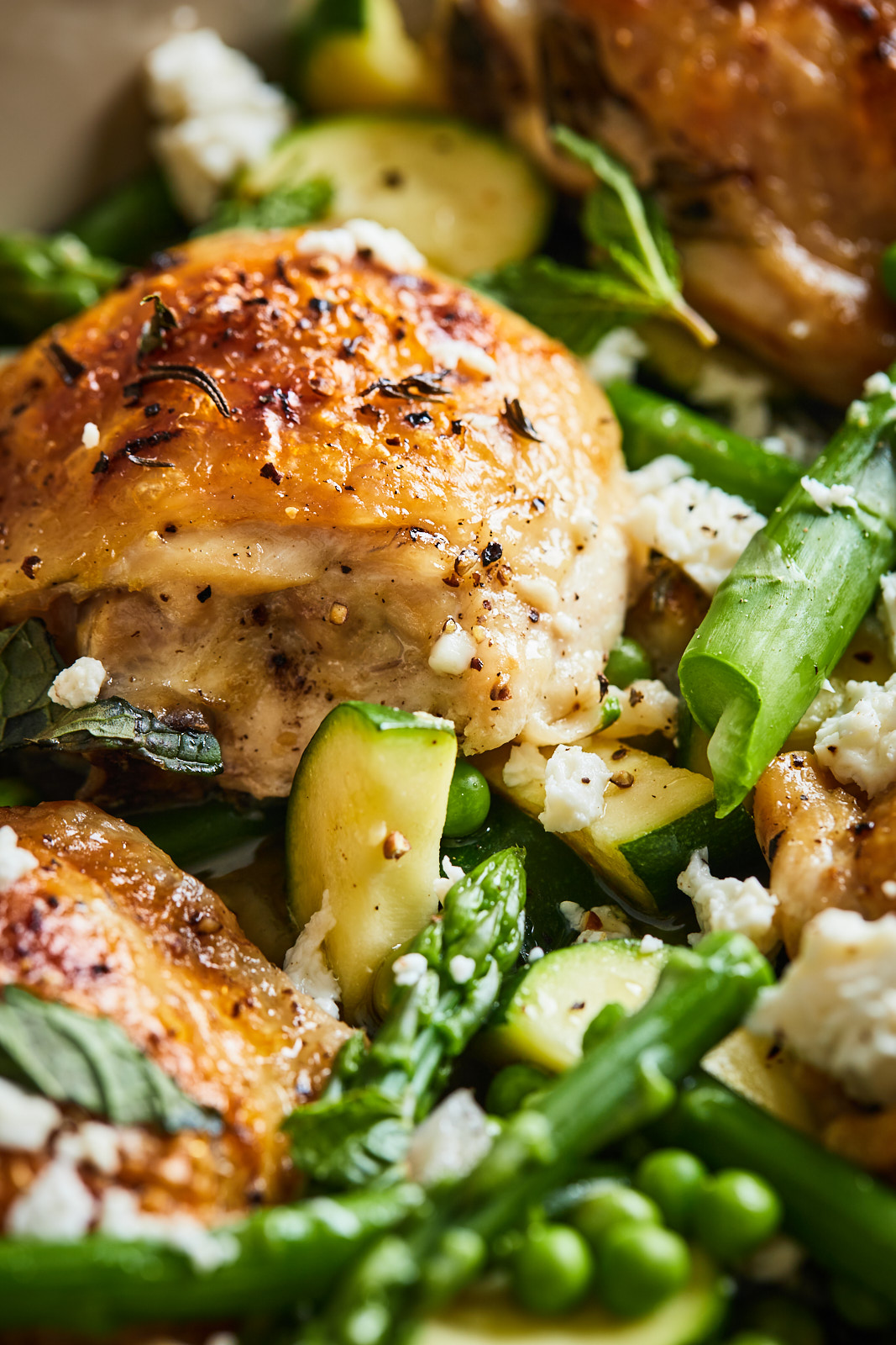 Herb Roasted Chicken With Spring Veggies