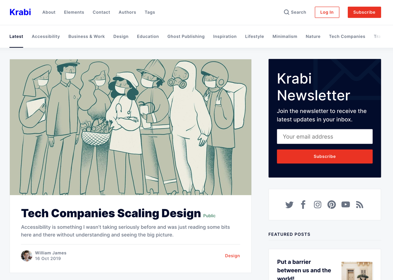 Krabi Ghost Theme Changing Colors with CSS Variables