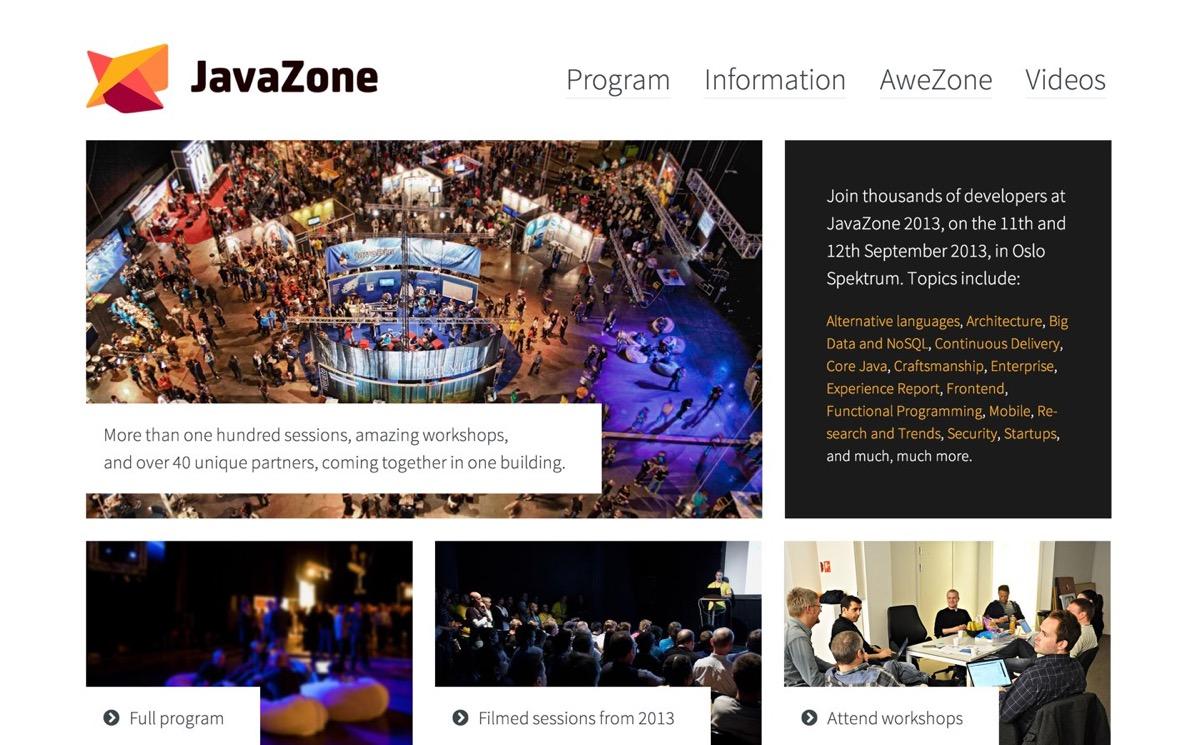 JavaZone screenshot