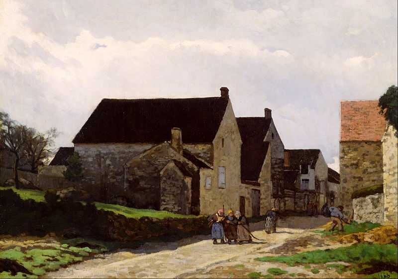 'Women Going to the Woods', painted by Alfred Sisley 1886