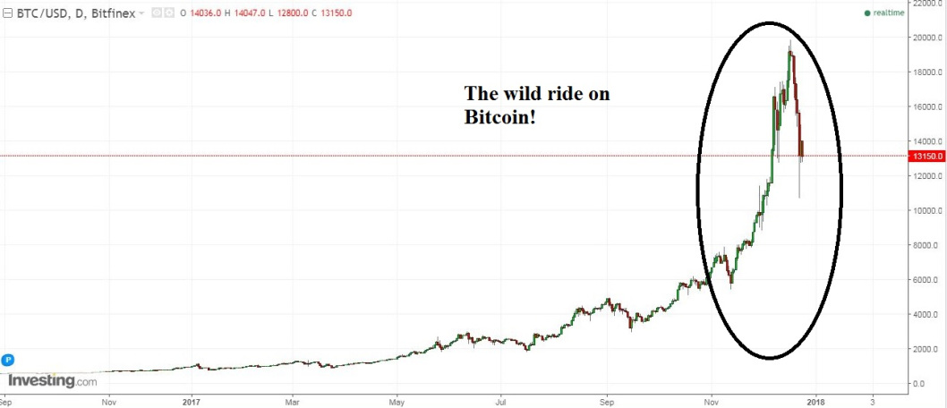 Figure 1: Bitcoin's Wild Ride!