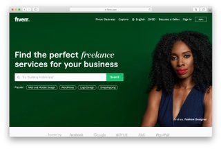 fiverr homepage