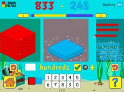 Subtract two 3-digit numbers (regrouping) Math Game