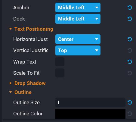 Timer Text Properties