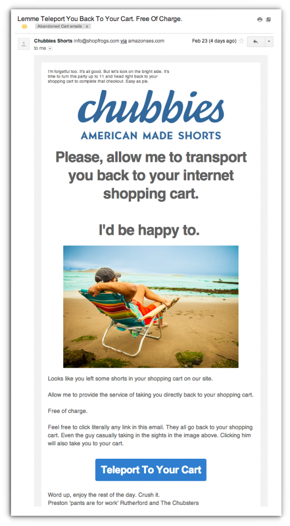 Chubbies email