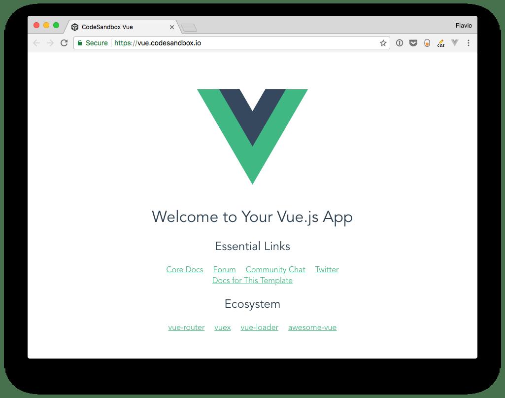 The Vue App