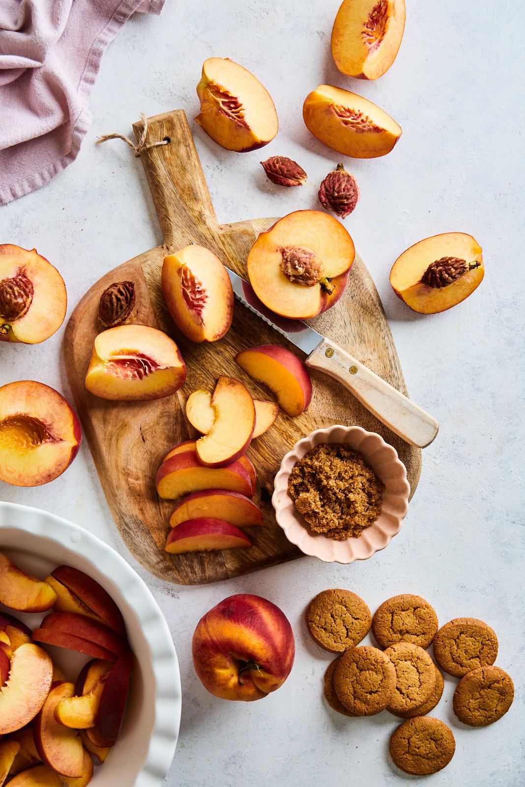 Ginger Bourbon Peach Icebox Cake