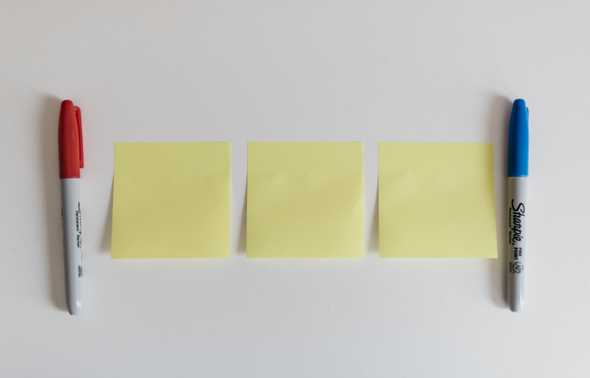 Kanban boards can be as simple as post-it notes or index cards.