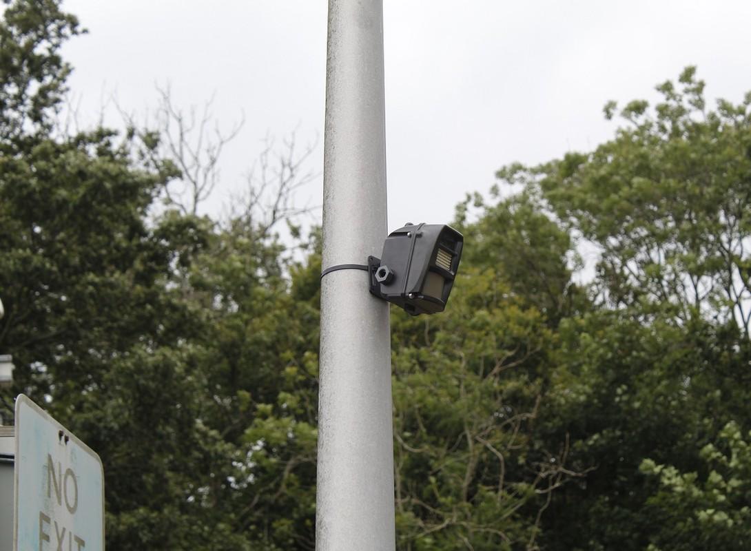 Battery Powered CCTV Camera on Pole