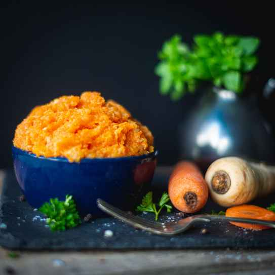 Carrot and Parsnip Mash (Serves 2)
