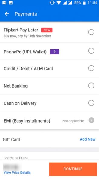 Flipkart payment gateway