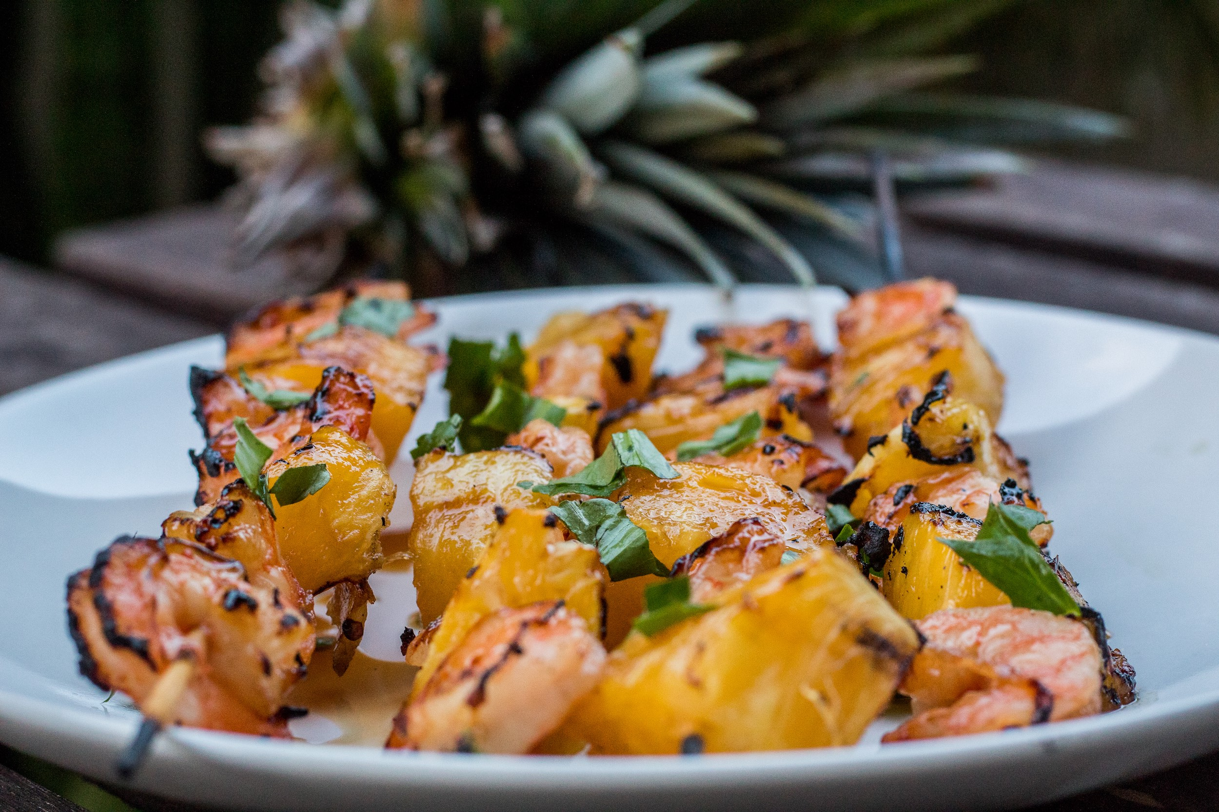 Make it a tropical night with grilled pineapple