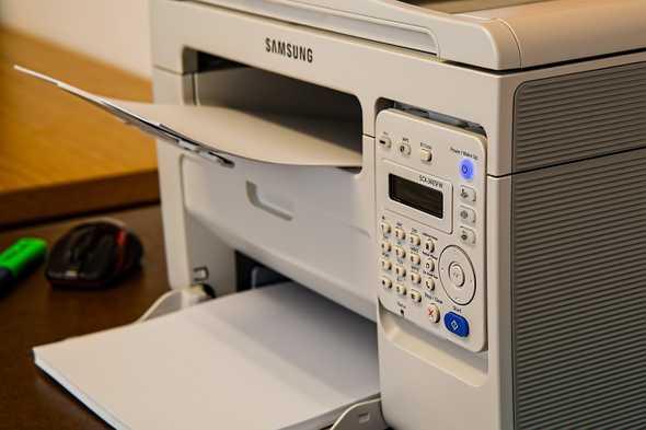 Printer die aan het printen is
