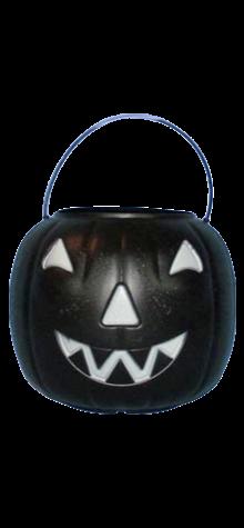 Black Big Jack Pumpkin Pail With Handle photo