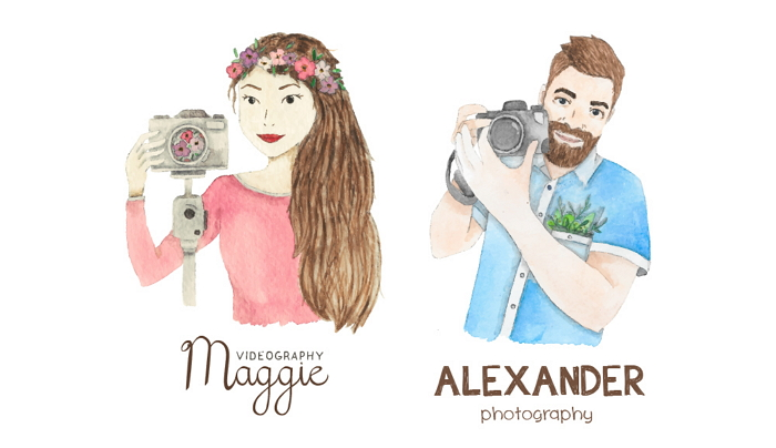logos and business cards for a photographer/videographer couple item thumbnail