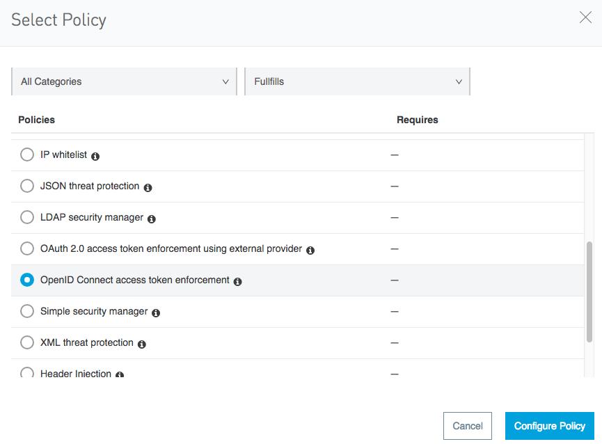 Mulesoft OpenID Connect access token enforcement