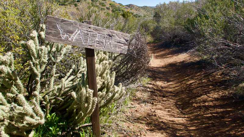 Side trail to water cache